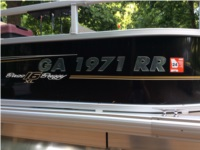 2121 bass buggy Pontoon boat Lettering from Michael  H, GA