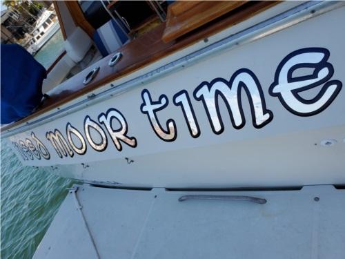 Bayliner 4588 Boat fiberglass gelcoat Lettering from Robert H, CA