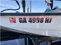 2021 Xpress H18 Bass Boat Boat Lettering from Mike T, GA