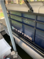 2015 Bennington R25 Letters were used on a pontoon boat, Lettering from Juan R, TX