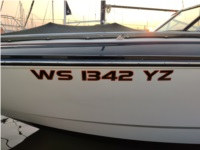 2013 Monterey 288 SS Boat Lettering from Mark W, WI