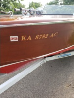 1947 Chris Craft runabout  Boat Lettering from Mark E, KS