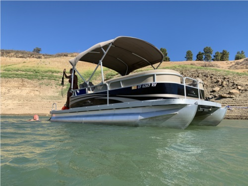 2013 20SL Pontoon boat Lettering from ZACHARY H, CA