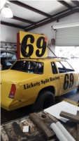 Dirt track car Lettering from Chris M, TX
