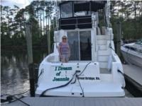 2002 SILVERTON MARINE CONVERTABLE 38 ft boat Lettering from Jean F, VA