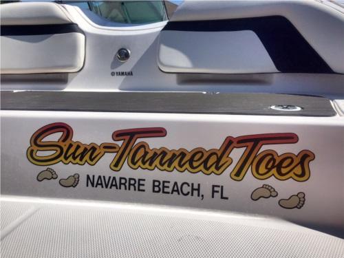 Custom designed Boat Name