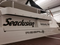 Custom Boat Name on Regal 3760