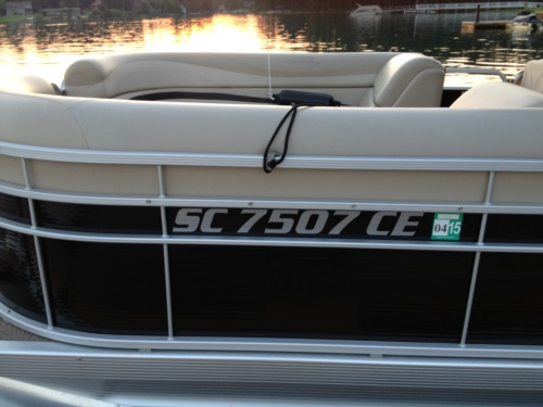 Pontoon Boat Registration Lettering At Boatdecals Biz