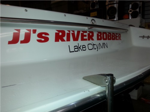 Red Boat Lettering